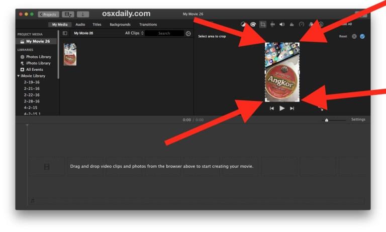 Как обрезать видео на Mac с помощью iMovie