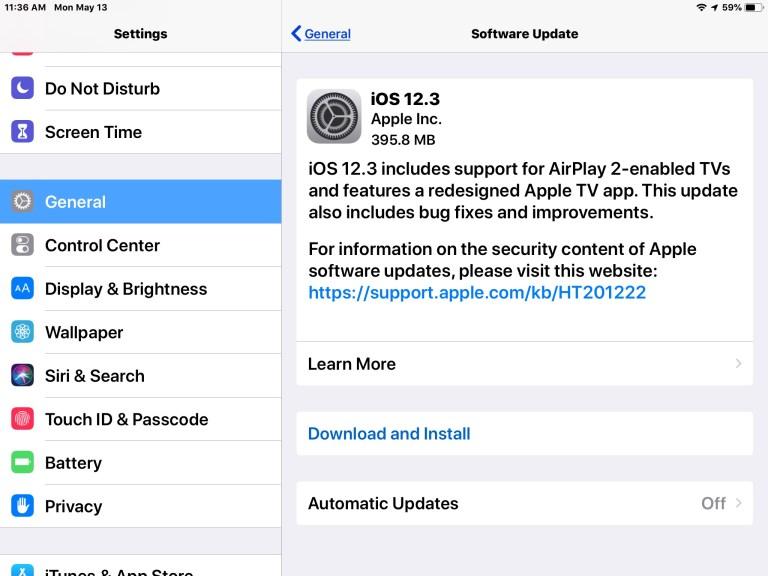 Загрузите обновление iOS 12.3 для iPhone и iPad прямо сейчас [IPSW Links]