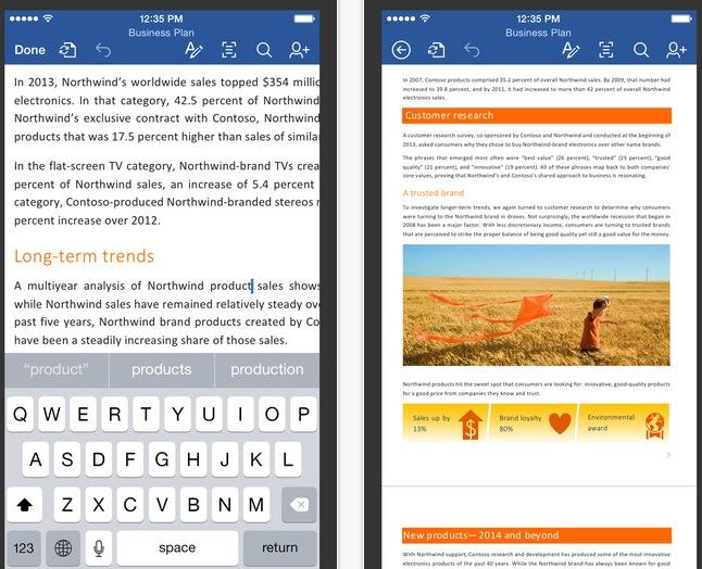 Приложения Microsoft Office для iPhone и iPad доступны для бесплатной загрузки