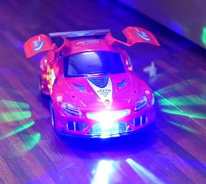 BMW Car 360 Rotate 3D Light & Sound Musical Toy For Kids