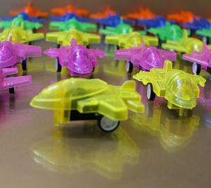 Pack of 7 Transparent Airplane