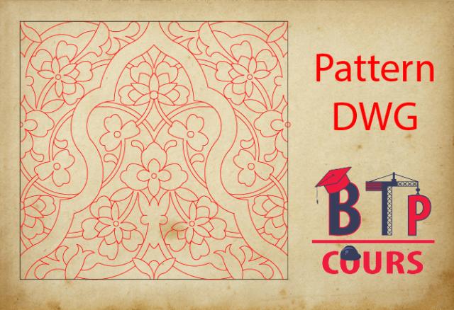motif islamique Dwg File
