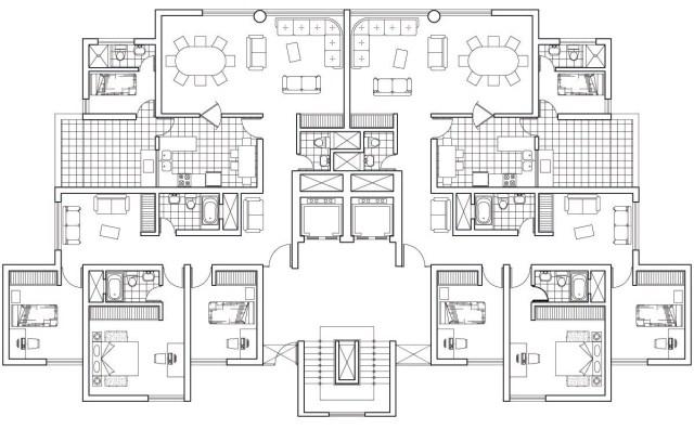 Plan,ARCHI, format, DWG, Tour, résidentielle