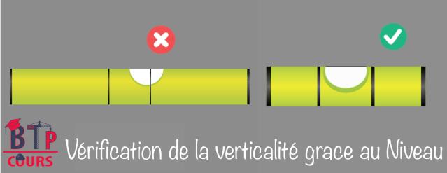 Comment la verticalité de la structure est vérifiée pendant la construction?