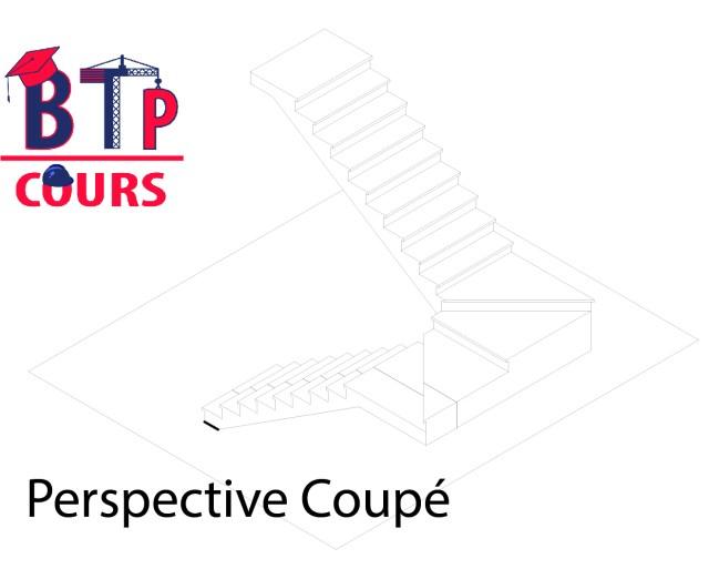 comment dessiner un plan coupe d'un escalier?