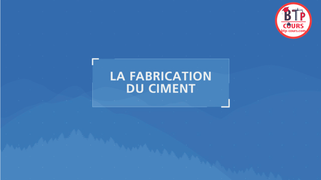 la fabrication du ciment en images