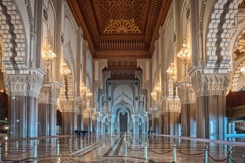 Mosquée Hassan II à Casablanca, Maroc