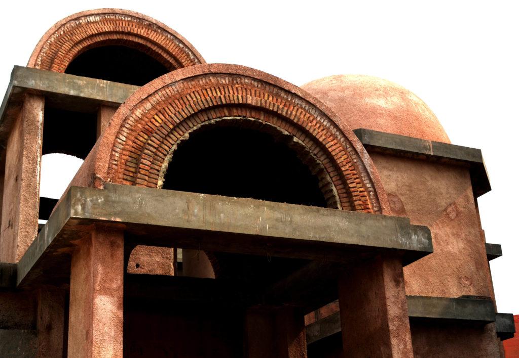 Maison Voûte par Chaukor Studio , Noida, Inde