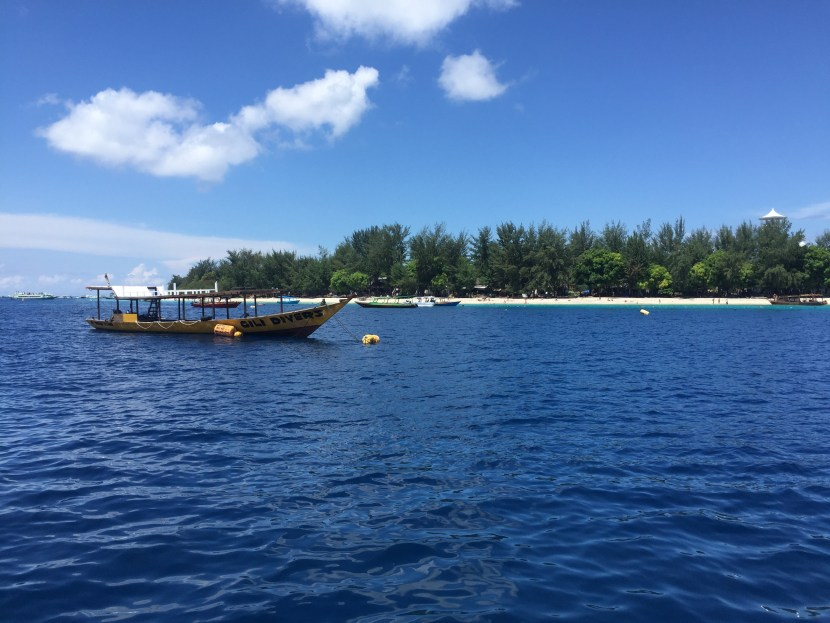 Gili T from a fast boat