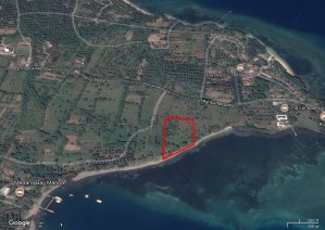 Outline of 1.2 hectare Beachfront, Lombok, Indonesia
