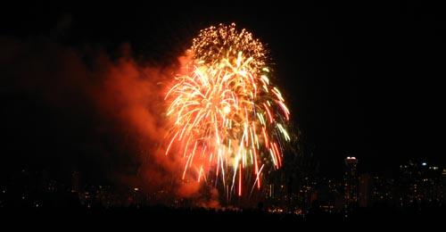 hsbc celebration of light fireworks in vancouver