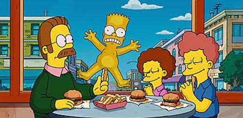 the simpsons movie - bart simpson and ned flanders