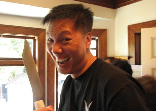 John Chow Stabs Panda at Sally's 1st Birthday Party