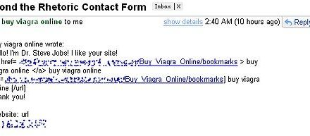 Contact Form Spam