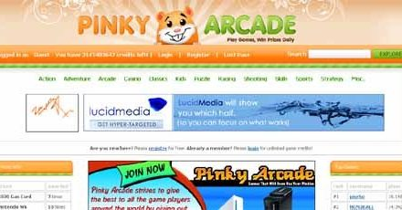 Killing Time Online with Pinky Arcade