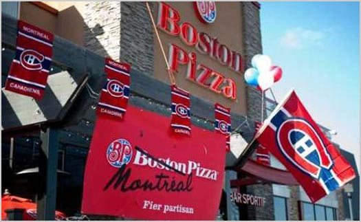 Boston Pizza Is Montreal Pizza