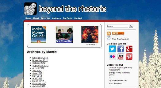 Top 12 Beyond the Rhetoric Blog Posts of 2012