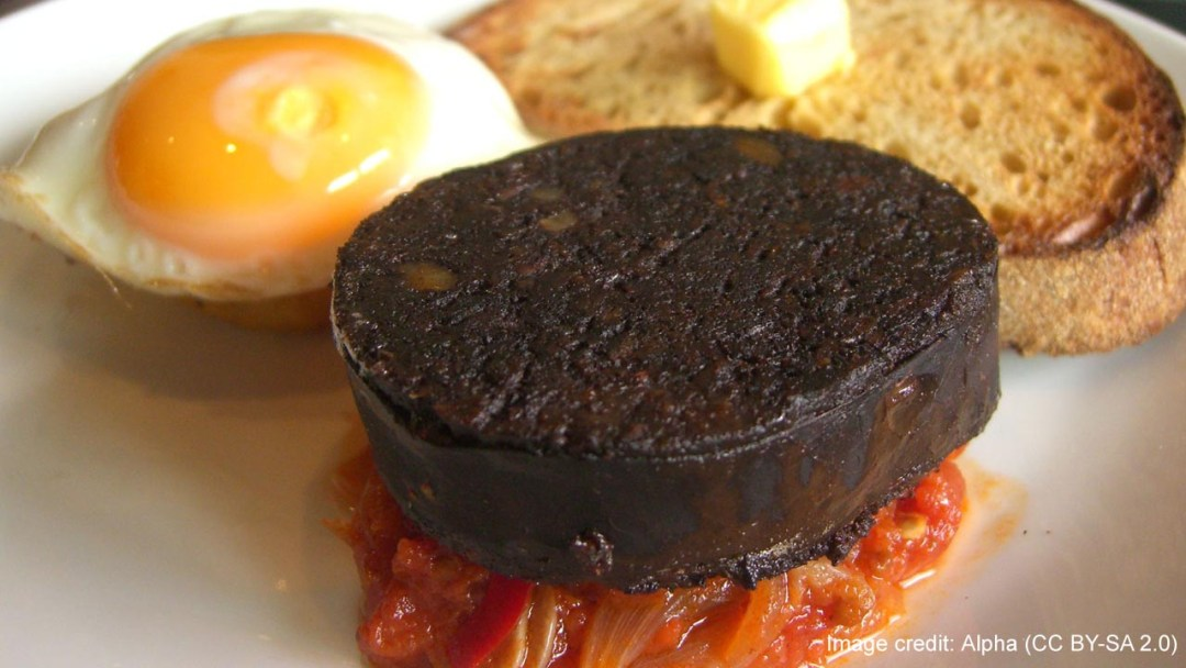 Black pudding Image credit: Alpha (CC BY-SA 2.0)