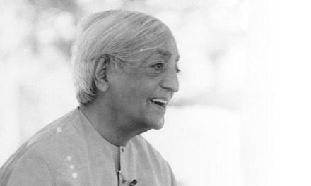 Sunday Snippet: Jiddu Krishnamurti (1895-1986)