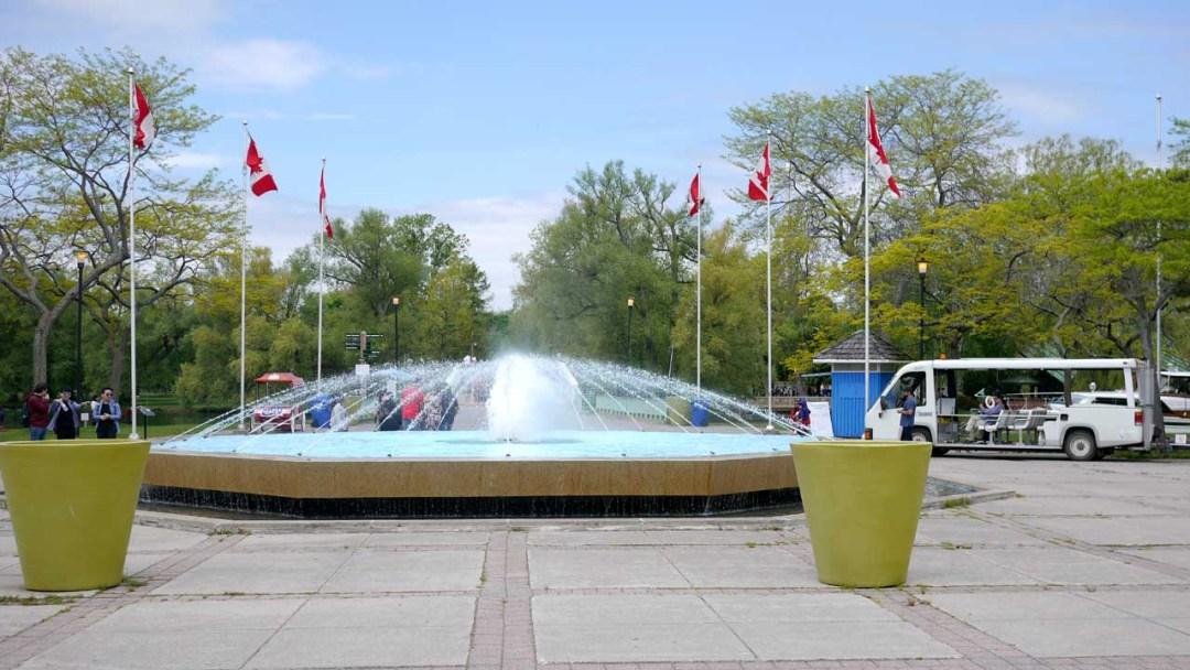 Toronto Islands fountain