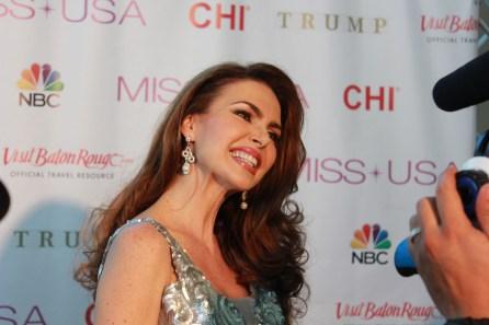 Barbara Palacios Miss Universe 1986 - Baton Rouge Red Carpet - Miss USA 2014
