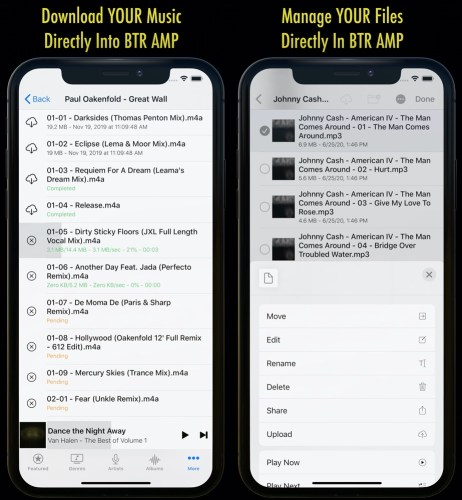 Download YOUR Music Directly Into BTR AMP - Manage YOUR Files Directly In BTR AMP