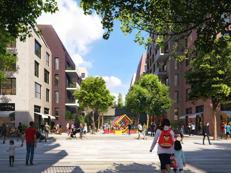 Outdoor space - Grosvenor Bermondsey scheme - BTR News