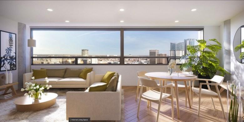 Octagon Build to Rent internal living space - Paradise Birmingham