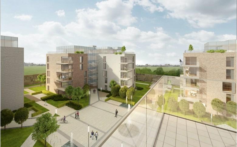 Computer image of Wallard Orchard Garden's Build to Rent scheme