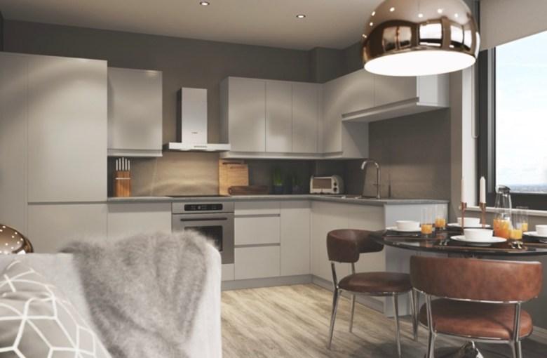Kitchen at Knight House development, Birmingham