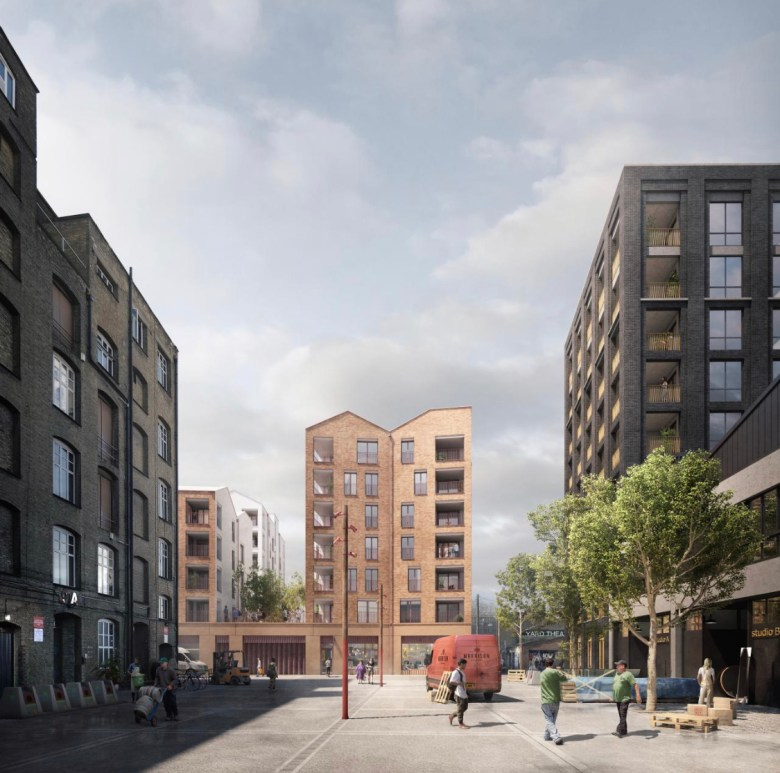 Build to Rent scheme, Hackney exterior