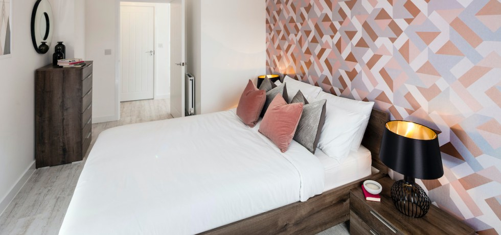 Bedroom at Fizzy Living Build to Rent scheme, Walthamstow
