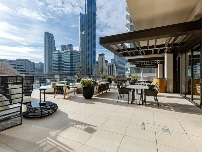 Rooftop terrace at 10 George Street Build to Rent scheme