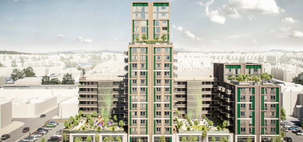 Artist impression of Hove Gardens Build to Rent scheme – Image credit CJCT Architects