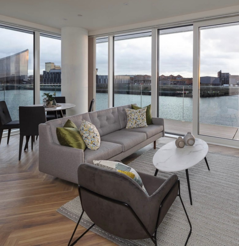 Lounge area at The Green Rooms overlooking MediaCityUK | BTR News