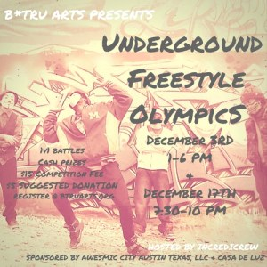 The Underground Freestyle Olympics: An Awesmic Blueprint