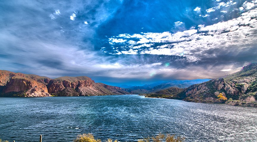 High Dynamic Range HDR Photography Apache Lake Arizona