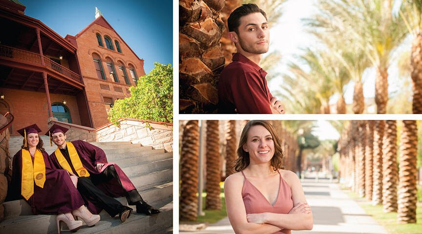 Two ASU Collage Graduates Have Their Portrait Photographed