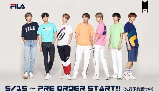 BTS着用 FILAのTシャツ発売!クリアファイル付き(マックハウス・ZOZO・FILA・楽天など)