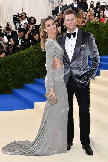 Gisele and Tom Brady at the Met Gala 2017.