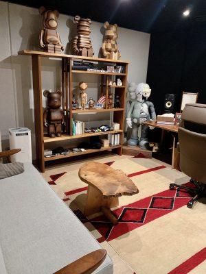 ナムの作業室pt.4 ナムの大事なジョージ・ナカシマ(George Nakashima)のコーヒーテーブル。