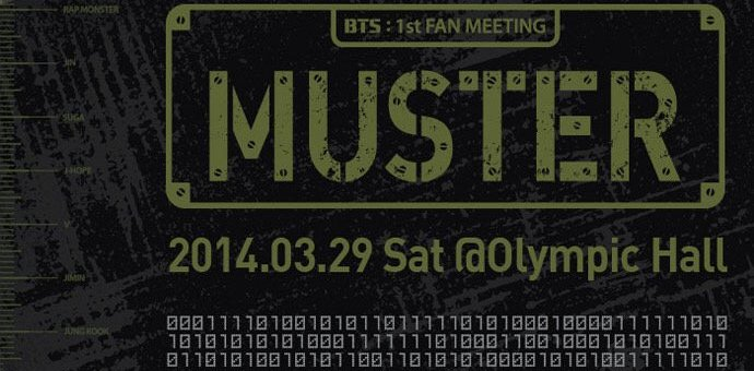 BTS Global Official Fanclub A.R.M.Y 1ST Muster