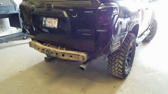 Rear end with factory bumper off