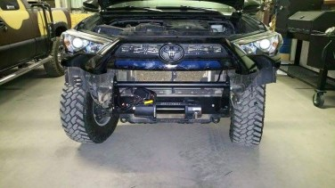 Front end with winch mount installed