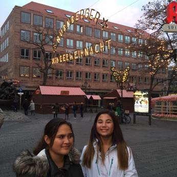 Mikaela and Kari having fun