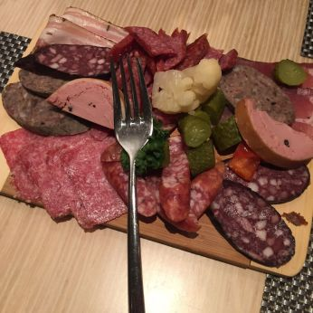 Assortment of cured ham and sausages