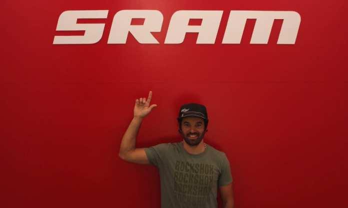 Marco Fidalgo e Berg Cycles com a SRAM  ROCK SHOX