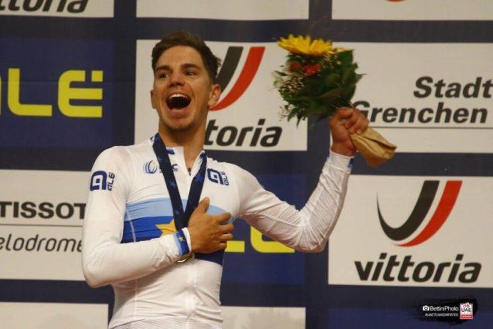 Rui Oliveira Campeão Europeu De Scratch No Campeonato Da Europa De Pista