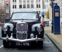 Black Wolseley Police Car