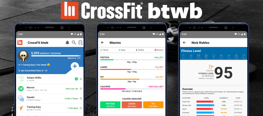 CrossFit btwb apps (Android & iPhone)
